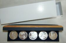 1971 ISRAEL 5 PIDYON HABEN PROOF COINS SET+GIFT BOX+CERTIFICATE 117g PURE SILVER