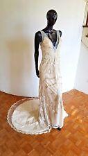 Art Deco Beaded Column 1920s Inspired Wedding Dress 6