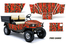 AMR Racing EZ Go Workhorse Wrap Golf Cart Decals Graphic Kit 1996-2003 FIRE CAMO