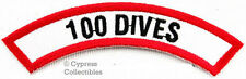 100 DIVES CHEVRON - SCUBA DIVING iron-on DIVE CERTIFICATION PATCH embroidered
