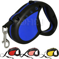 NYLON DOG RETRACTABLE LEADS AUTOMATIC EXTENDABLE TAPE LEASH FOR PUPPY DOGS