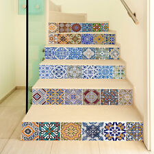 6PCS 100*18CM Moroccan Tile Sticker Kitchen Bathroom Stairs Mural Decal GH