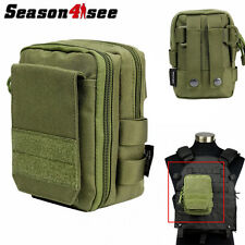 1000D Molle Tactical Hunting Sundries Bag Utility Military Airsoft Vest Pouch OD
