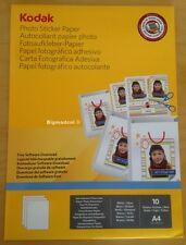 Kodak Photo Sticker paper 10 sheets white gloss A4 210x297mm  Brand New