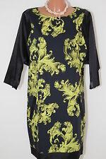 Versace Sommer Abend Kleid Gr M / 40 NEU Schwarz/Gelb !Prachtstück! H389