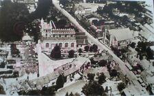 PRINT 10 X 7  BASINGSTOKE PARISH & WESLEYAN CHURCHES FROM THE AIR - BASINGSTOKE