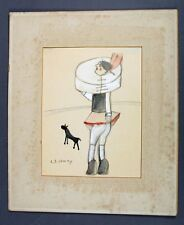 L. S. Lowry Colored Drawing Auction provenance Ships in 24 hours!