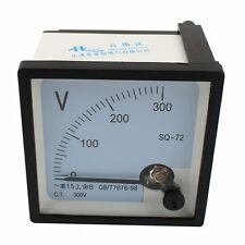 SQ-72 Class 1.5 AC 0-300V Voltage Analog Square Voltmeter Panel Volt Meter New