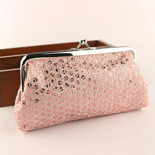 New Women Lovely Style Lady Wallet Hasp Sequins Purse Clutch Bag Fashion