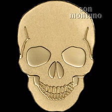 24K GOLD SKULL - 1/2 Half Gram .9999 11mm One Dollar Coin in Capsule COA - PALAU