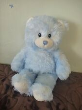 """Build a Bear for Baby Sweet Cuddles Blue and White Teddy Bear 15"""" B42"""