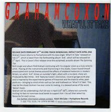 (EZ766) Graham Coxon, What'll It Take - 2012 DJ CD