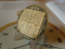 ANTIQUE (VICTORIAN) POCKET WATCH PERTH SCOTLAND CALENDAR CASE PAPER. C~1895.