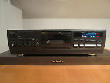 Technics rs-bx747 stereo cassette cubierta 3 Head Remote Controlled a distancia utilizables!!!