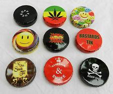 Airtight Stash / Tobacco / Click Tin or Pill Box - Assorted Designs