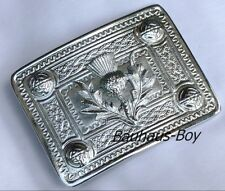 KILT BELT BUCKLE SCOTTISH THISTLE CREST AND CELTIC DESIGN HIGHLANDWEAR FOR KILTS