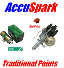 MGA /MGB  AccuSpark traditional 45D Distributor , Lucas Sport coil & red rotor