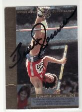 AUCTION BRUCE JENNER USA OLYMPICS CREASED  AUTOGRAPHED CARD