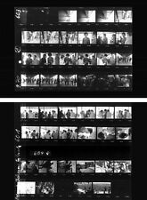 Jimi Hendrix Fehmarn 1970 last concert, 2 pages photo negative contact sheets