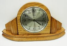 HANDCRAFTED SOLID OAK SMALL MANTEL CLOCK MADE BY THE STONEYBROOK CLOCK COMPANY