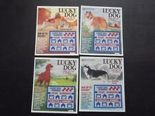 4 - 1997 CONNECTICUT SV SAMPLE LOTTERY TICKETS - LUCKY DOG