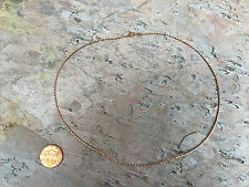 "14KT Rose Gold Weave Braid Neck Wire Omega Chain Necklace 17"" Mesh Collar Defect"