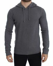 NWT $1700 DOLCE & GABBANA Gray Cashmere Hooded Sweater Pullover Top IT52 / L