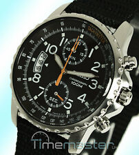 Seiko Sport Quartz Chronograph Black Face and Nylon Strap SNN079P2 SNN079