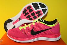 NIKE WOMENS FLYKNIT ONE+ SHOES SIZE 10 pink black fireberry 554888 606