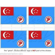 "SINGAPORE AirForce RSAF '90-Present Flag Bumper, Decals Stickers 2"" (50mm) x4"
