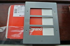 legrand Synergy 7339 90 Grid Module Plate 3x3G 6 full apertures metalclad grey