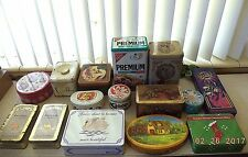 Lot of 15 Empty Tins Cookie Cracker Candy + Misc.