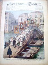 383) 1932 PROCESSIONE A VENEZIA SUL CANAL GRANDE DEL CAPITOLO PATRIARCALE