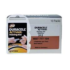 80 pcs Duracell Activair Hearing Aid Battery Size 312 Super Fresh Expire 2019