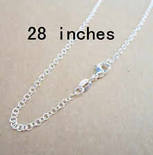 "Wholesale 1 P 28"" Nice  Jewelry Rolo 925 Sterling Silver Plated Necklaces Chains"
