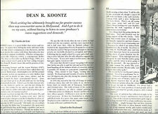 CHARLES de LINT INTERVIEW OF DEAN KOONTZ  in FANTASY REVIEW 7/87