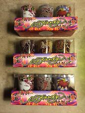 ED Hardy  3 pc Shot-glass candles tealight Gift Set /SET OF 3 DIfferent Designs