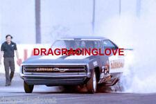 """""""Hawaiian"""" Larry Reyes 1970 Dodge Charger NITRO Funny Car PHOTO!"""