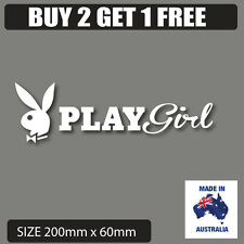 PlayGIRL  bunny car stickers