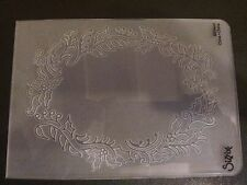 Sizzix Large Embossing Folder FRAME HOLLY & BERRIES  fits Cuttlebug & Wizard