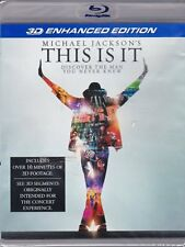 Michael Jackson This Is It 3D ENHANCED EDTITION BLU RAY 3D NEW! THRILLER, MUSIC