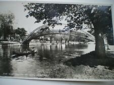 POSTCARD RP BEDFORDSHIRE BEDFORD - THE SUSPENSION BRIDGE