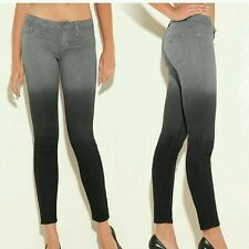 GUESS Ombre Power Skinny Jeans in Jet Black SIZE 23