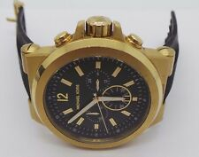 MICHAEL KORS BLACK SILICON CHRONOGRAPH DYLAN MK8325 WATCH - AS IS  107338-3