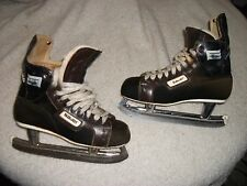VINTAGE BAUER SUPREME 96 ICE HOCKEY SKATES W/BUILT IN ANKLE GUARDS MEN SIZE 8 D