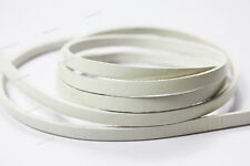 35 Colors 5mmx2mm Flat Real Leather Bracelet Cord, 5mm Leather Strips