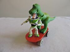TOY STORY 2 Buzz Lightyear & Rex the Dinosaur pull-back Skateboard Disney Store