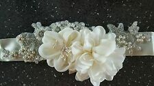 Bespoke Bridal/Wedding Crystal Pearl Embellished Sash/Belt