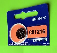 1 x CR1216 DL1216 5034LC Sony Lithium cell battery Fresh Expire 2025