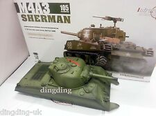 Heng Long 2.4 G Sherman M4a3 Rc 1/16 Scale Cisterna Up Casco Completo Con rx18 Cable